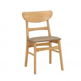 (滋涵傢俱)艾格妮餐椅(皮)(實木) 台北新北(除偏遠)含運