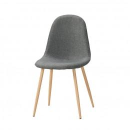 (滋涵傢俱)佳爾餐椅(淺灰色布)(五金腳) 台北新北(除偏遠)含運